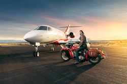 Indian Motorcycle With Jet