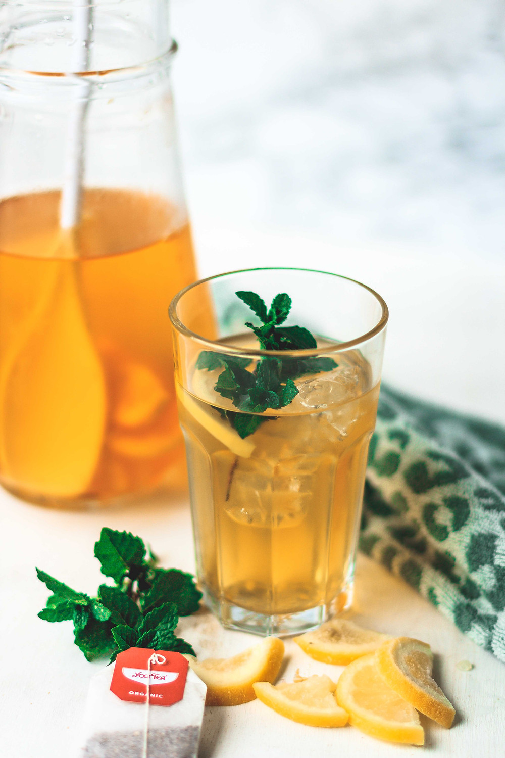Homemade ice tea green