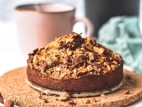 Pindakaas ontbijttaartje   Zonder het gebruik van meel!   Glutenvrij & Koolhydraatarm