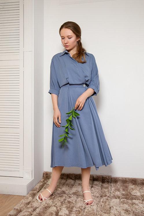 Semiotique Платье Сандра голубое