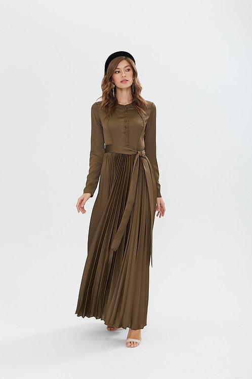 Semiotique Платье в пол Плиссе
