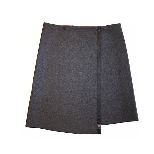 La jupe TUKUAN aux genoux taille unique grise