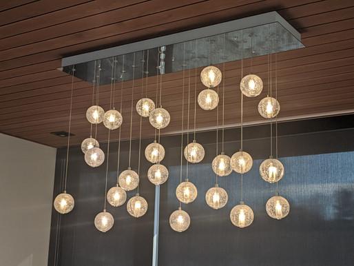 Custom Glass Ball Ceiling Chandelier