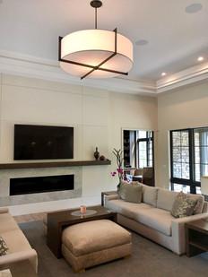 Residential Custom ceiling Light Fabric Shade