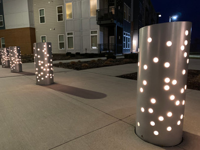Breakwater Bluffs Townhomes and Apartments Custom Bollards