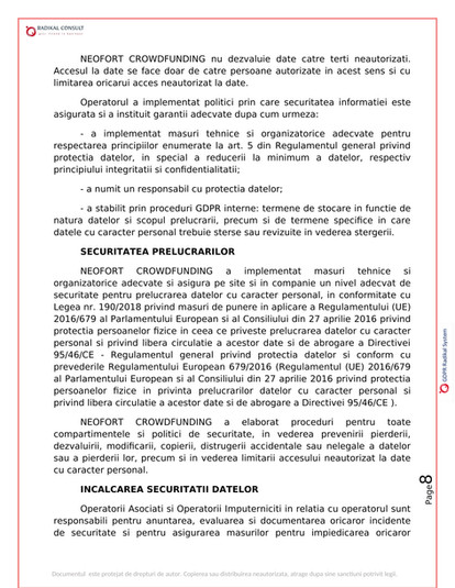 ANSAMBLURI REZIDENTIALE BUCURESTI - GDPR 8