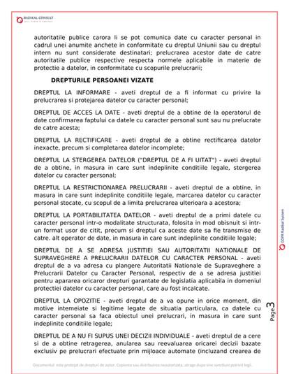 ANSAMBLURI REZIDENTIALE BUCURESTI - GDPR 3