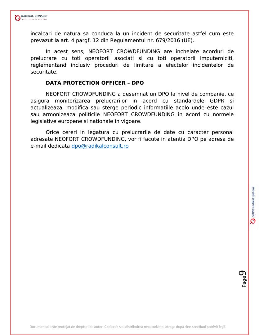 ANSAMBLURI REZIDENTIALE BUCURESTI - GDPR 9