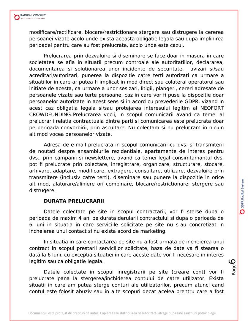 ANSAMBLURI REZIDENTIALE BUCURESTI - GDPR 6