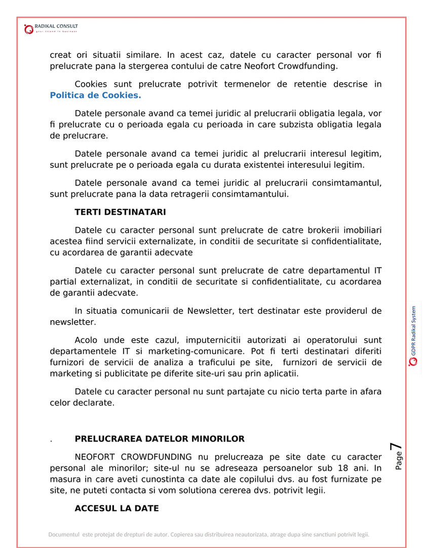 ANSAMBLURI REZIDENTIALE BUCURESTI - GDPR 7