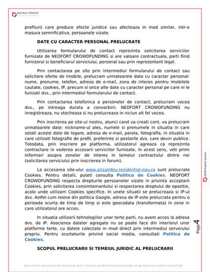 ANSAMBLURI REZIDENTIALE BUCURESTI - GDPR 4