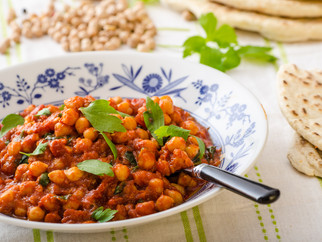 Sweet Potato, Chickpea & Spinach Curry with Lime & Coriander