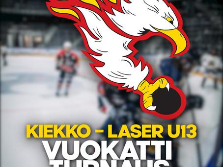 KIEKKO-LASER U13 SYYSTURNAUS VUOKATTI AREENALLA 17.-19.9.