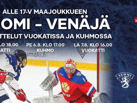 Suomi-Venäjä maaottelut Vuokatissa ja Kuhmossa!