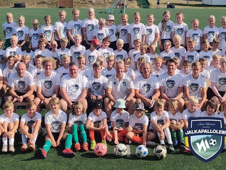 Jalkapalloleirille osallistui 70 lasta ympäri Suomen!