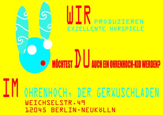 ohrenhoch-Kids Postkarte