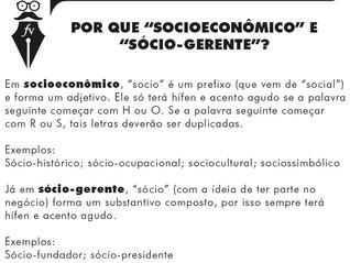 """""""Socio"""" ou """"sócio""""? Com ou sem hífen?"""