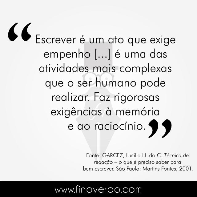 Frase de Lucília H. do C. Garcez