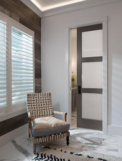 TS3000 with White Lami glass pocket door