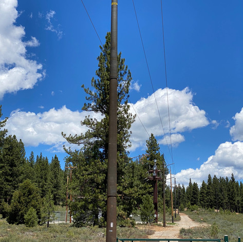Wildfire Hardening; wood poles replaced with McWane Ductile Iron Poles