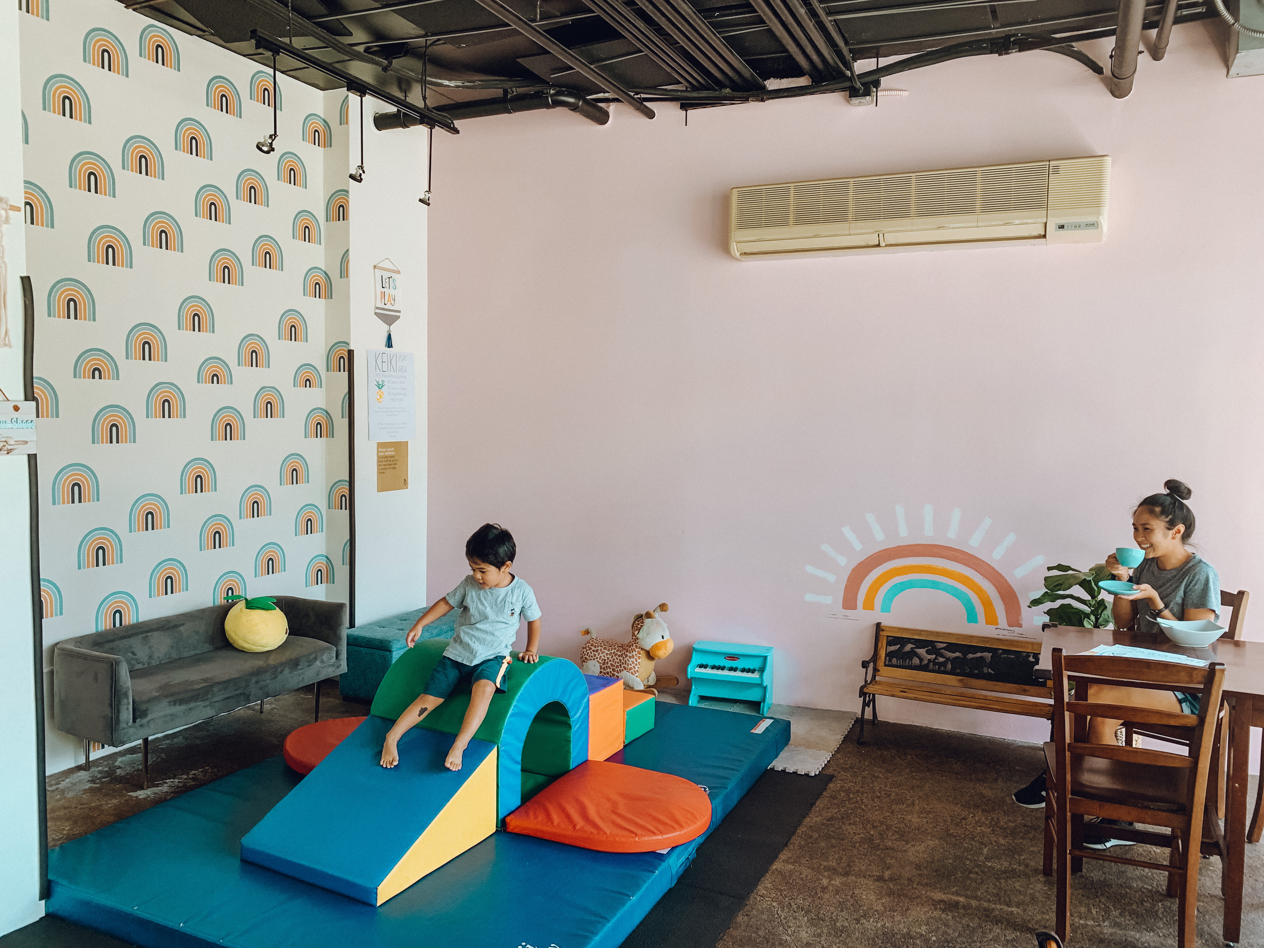 Indoor Private Dining with the Play Area