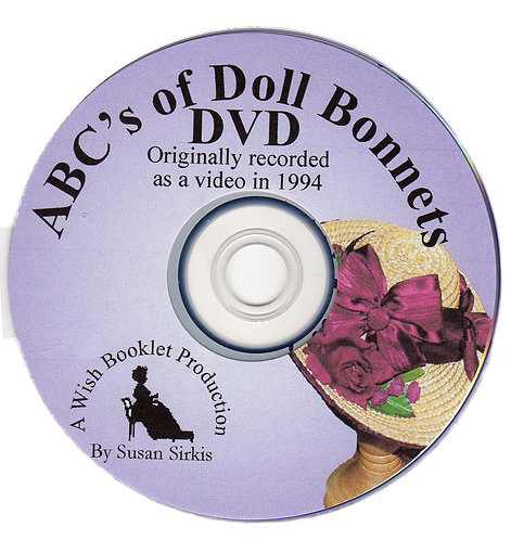 DVD 3: The ABCs of Doll Bonnets