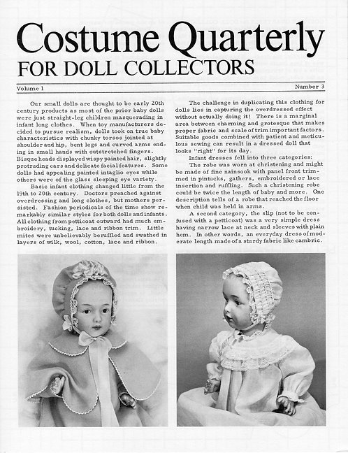 Basic Wardrobe for Small Bent Limb Baby Dolls