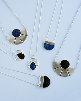 Stone Necklaces, onyx necklace, minimal necklaces, geometric pendant