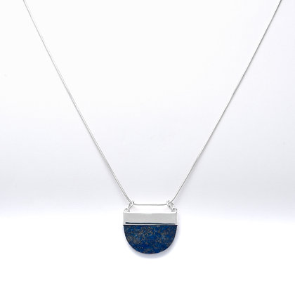 Half circle lapis necklace