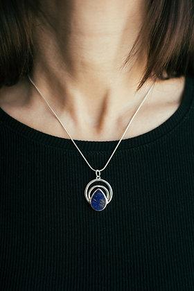 Lagrima lapis lazuli necklace