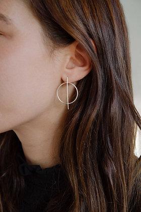Stick circle earrings