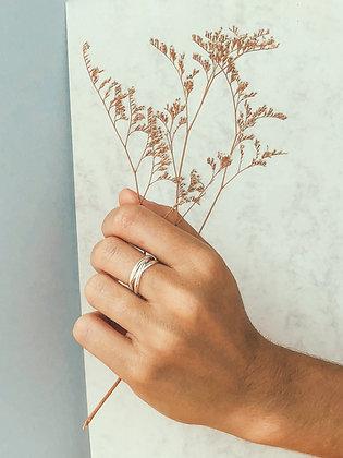 Triple silver ring