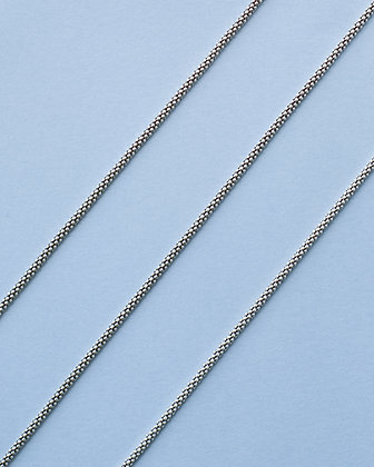 Delicate oxidized sterling silver chain