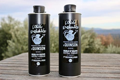 Coffret découverte : lot de 2 bidons d'huile d'olive 50cl