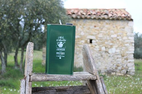huile d'olive bio AOP Haute Provence bidon métal 5 litres