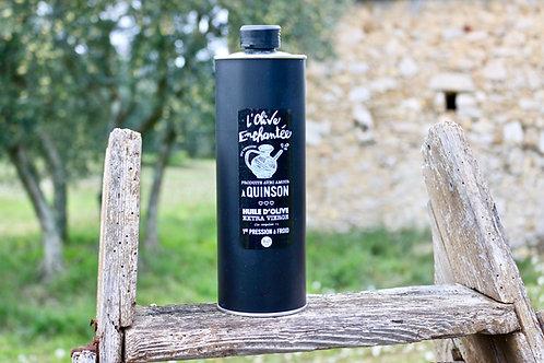 "huile d'olive bio ""pur aglandau"" AOP Haute Provence bidon de 50cl"