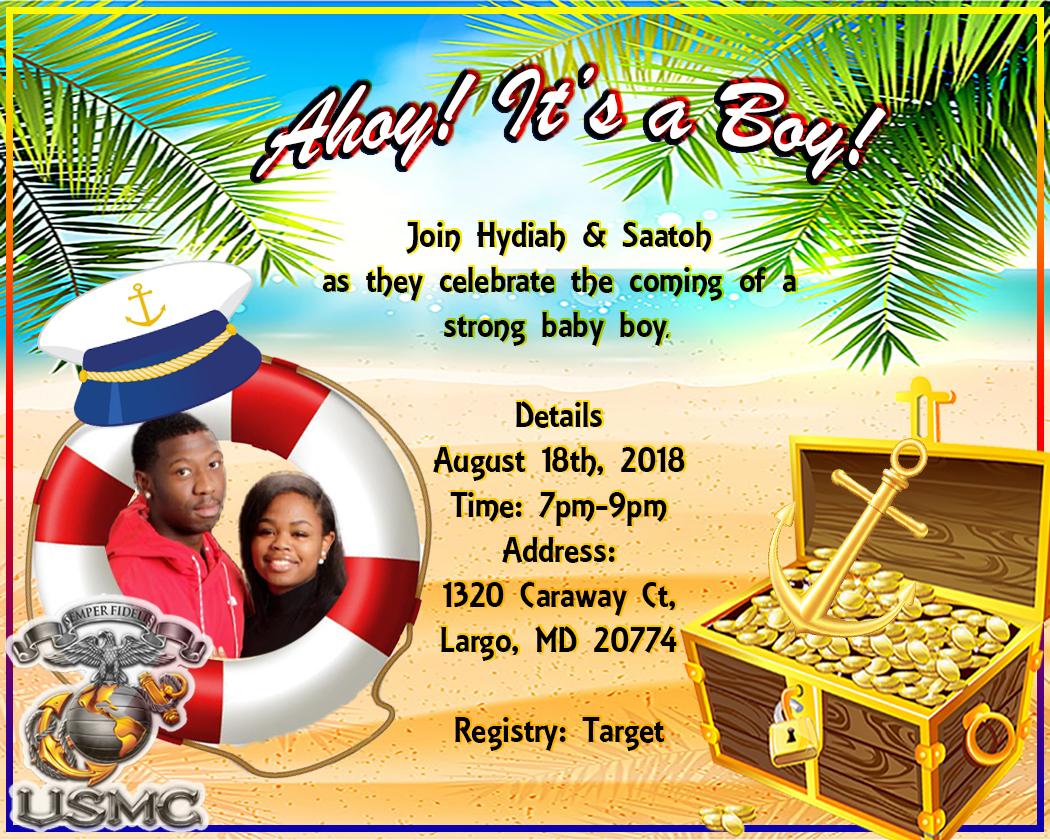 Hydiah and Saatoh baby shower invitation