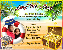 Hydiah and Saatoh baby shower invitation