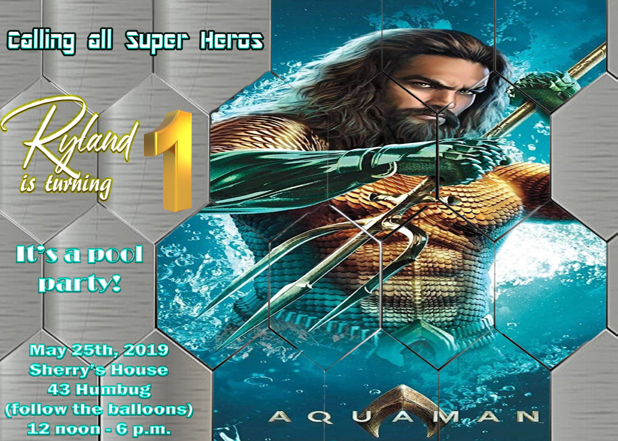 Aquaman invitation final