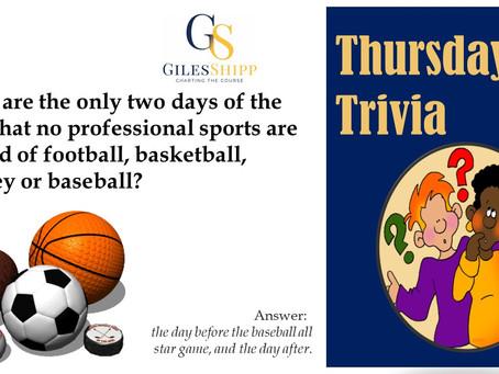 Thursday Trivia