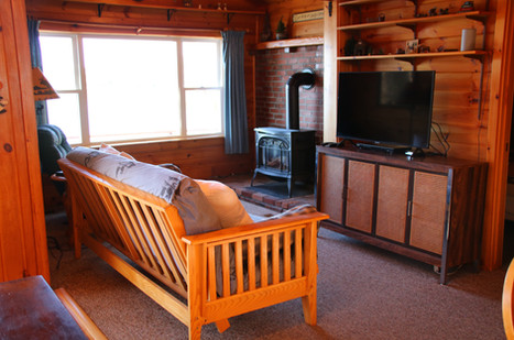 Lakefront Cabin Living Area