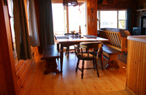 Lakefront Cabin Dining Area
