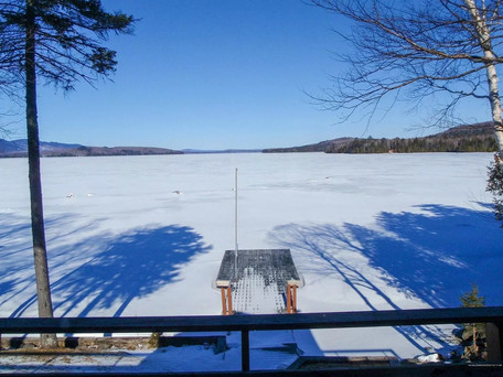 Winter dock view