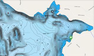 Sandy Bay Depth Map