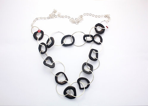 Interlocking Hoops Necklace - double layer