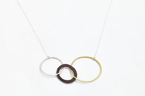 Links Necklace - Moon, sun and earth