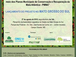 """Convites para o Lançamento do Projeto """"Fortalecendo os Conselhos Municipais de Meio Ambiente po"""