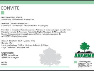Convite - Evento ANAMMA - MG