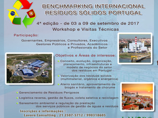Quarta edição do Benchmarking Internacional Resíduos Sólidos Portugal (03 a 09 setembro)