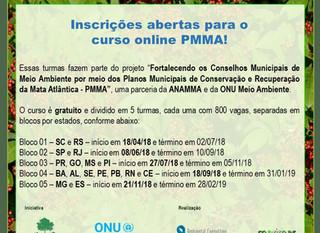 Inscrições abertas para o curso online PMMA!